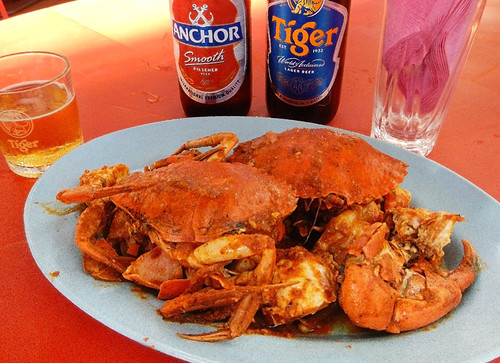 Chile Crab at the Portugis settlement in Melaka, Malasia