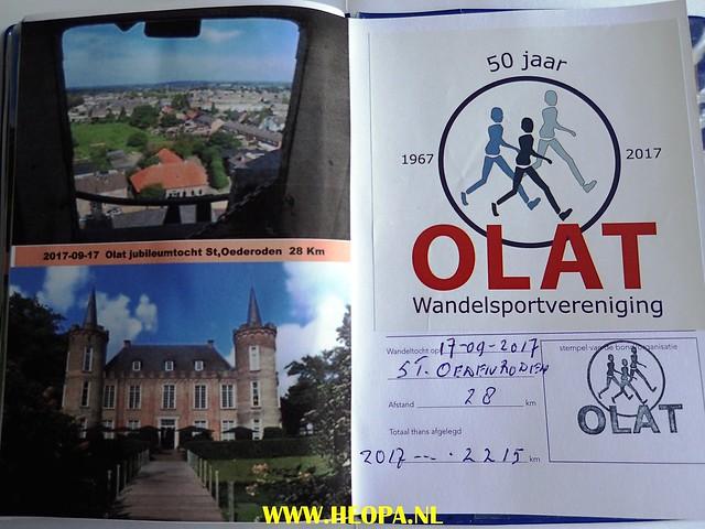 2017-09-16      -St. Oedenrode  OLAT 50 jaar    Jubileumtocht    28 Km (281)