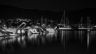 Port de La Selva, larga expo en BN