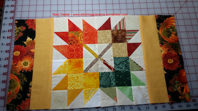 Placemat using my Autumn Jubilee leaves
