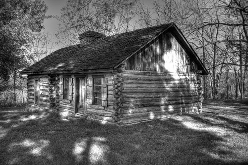 1st first crawford county courthouse building missouri blackwhite bw log cabin historic architecture monochrome nikon d3100 digital outdoors