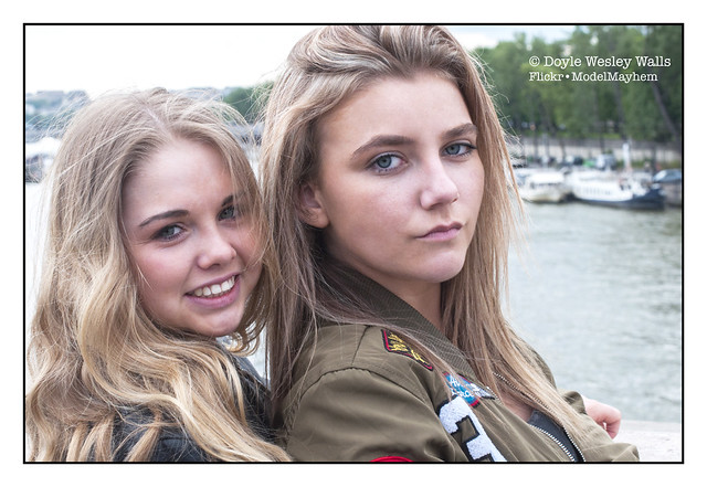 Two Blondes on a Bridge