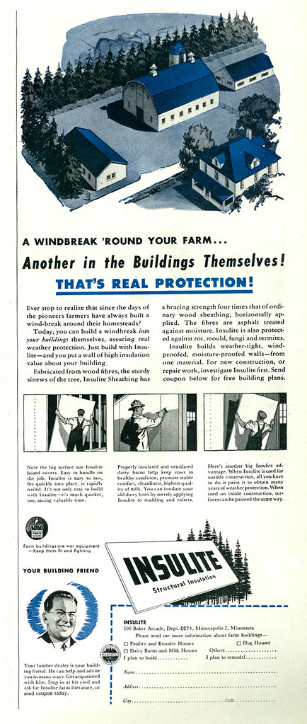 Illustrated 1944 Ad, Insulite Structural Insulation