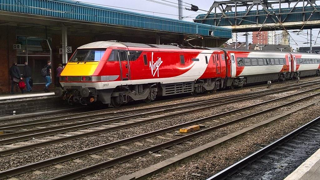 Virgin Trains East Coast Class 91 91117 (West Riding Limit