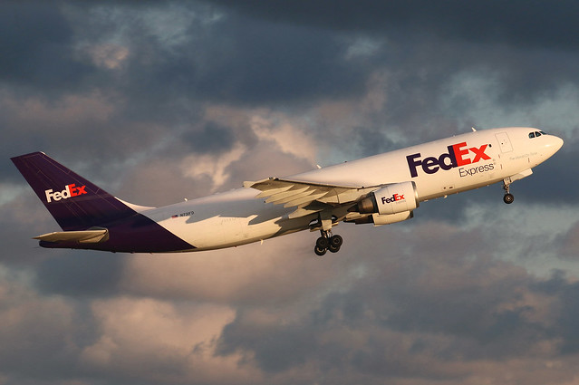 N731FD FedEx Express A300B4-605RF at KCLE