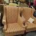 Wing back fabric armchair E160