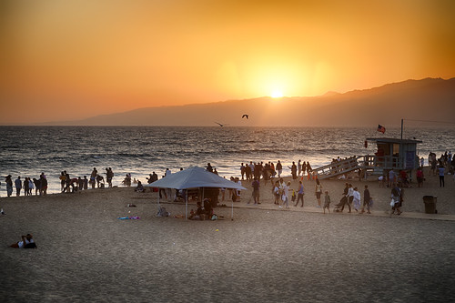 santamonicapier sunset beach plage pacifique pacific ocean coucherdusoleil california californie losangeles santamonica usa