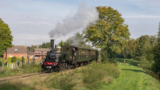Stadskanaal gaststoomloc 7742 'Bello' trein 3754 Musselkanaal