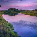 Venta river at Sunset