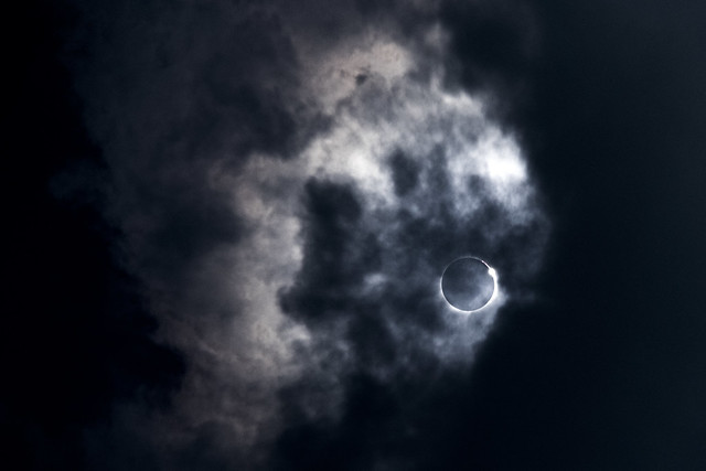 Diamond ring effect, 2017 Solar Eclipse, White County, Tennessee 2