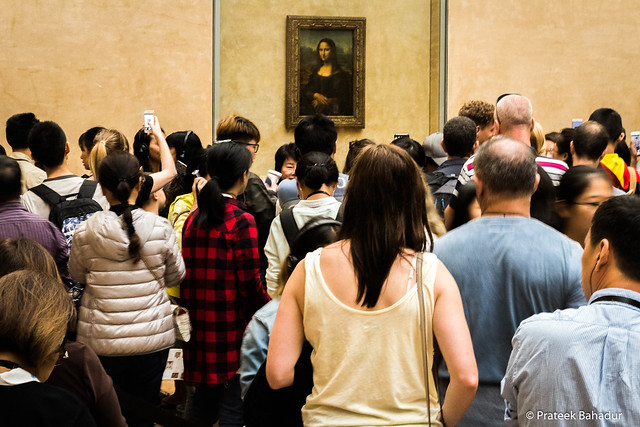 The Crowd, Monalisa, Louvre Museum, Paris