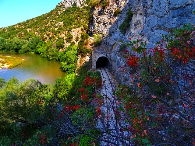 Train tunnel..Nestos river..Galani Xanthi Greece