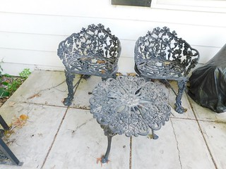 Wrought iron settee   by thornhill3