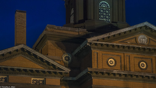 georgia newnan architecture buildings decorations facade coweta county courthouse bluehour nightphotography