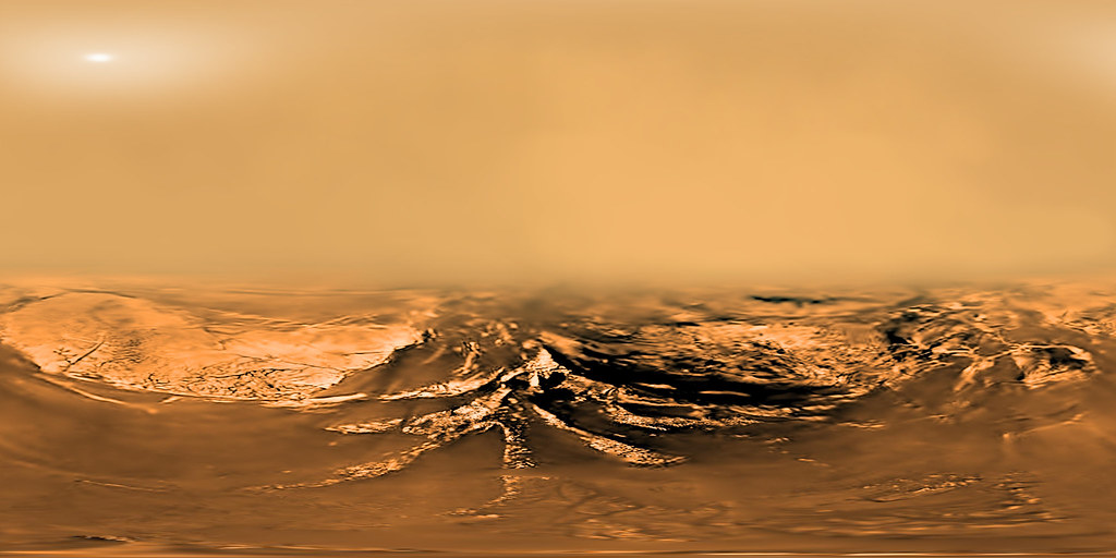 360 view of Huygens descent to Titan