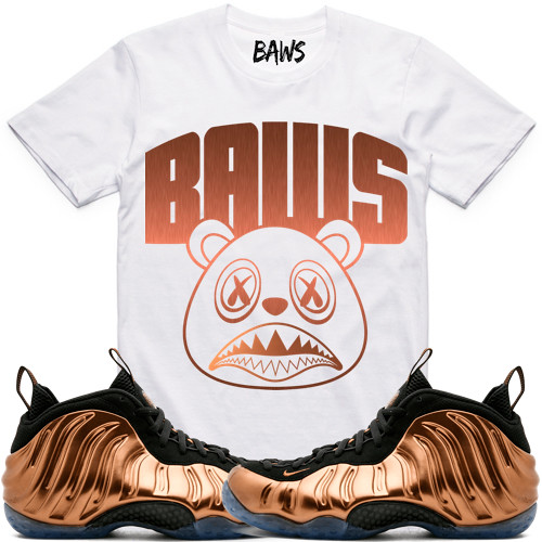 d862bada8a106a ... Copper Foamposites Foams sneaker tee shirts