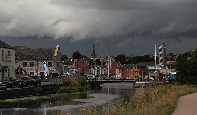 Stormy skies over Exeter Ship Canal
