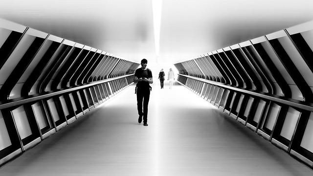 Adams Plaza Bridge in black and white: part 2