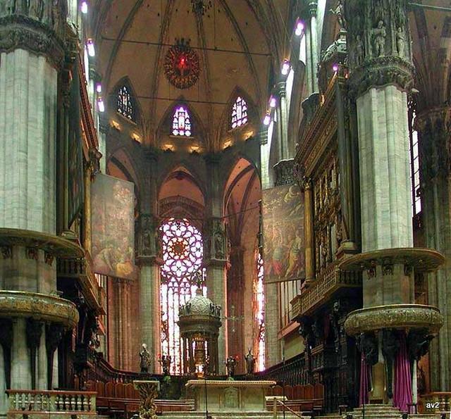 Interior catedral de Milán.
