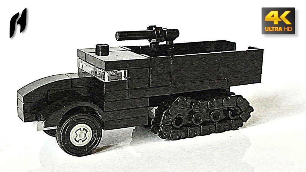 Half-track Military Truck (Updated Version)   youtu be/0o66b