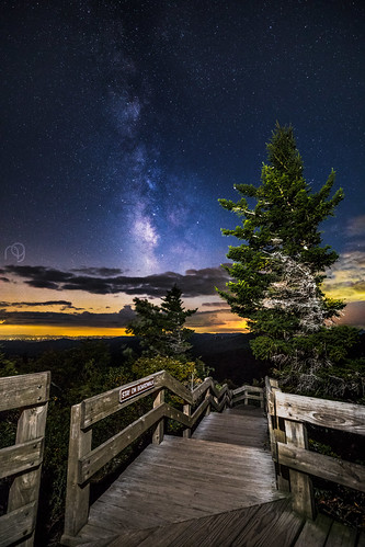 night hike landscape milkyway astrophotography stars mountains fall sunset astro trail nightsky 5d4 blueridgeparkway blueridge boardwalk roughridge longexposure hiking 5dmarkiv sky nature summer 1635iii 5div mountain linville northcarolina unitedstates us