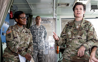 Senior Army Reserve leaders gauge deployment readiness of 332nd Trans BN, 824th Trans Co.