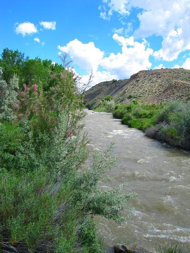 sky clouds river colorado mesa montrosecolorado uncompahgreriver