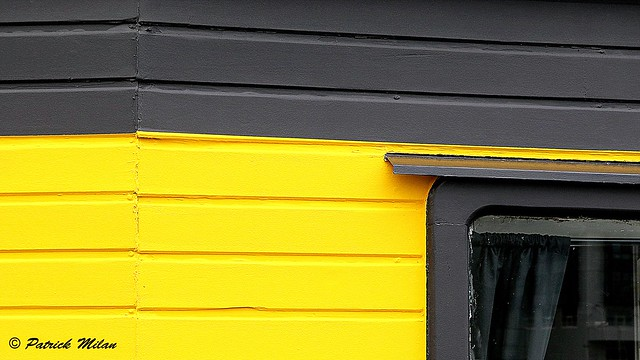 Yellow and black window