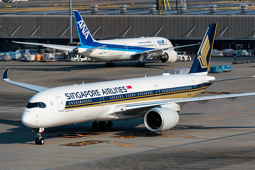 9V-SMH | Airbus A350-900 | Singapore Airlines | Tokyo Haneda | by Flightline Photography UK