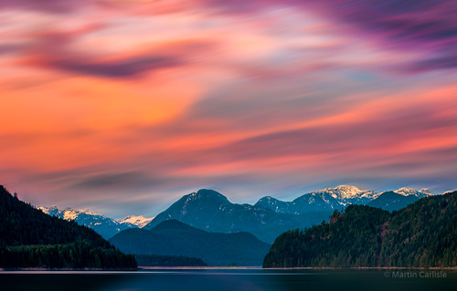 stavelake britishcolumbia canada dewdneytrunkroad fraservalley lakes mountains sky clouds sunset colour trees niksoftware colourefex nwn