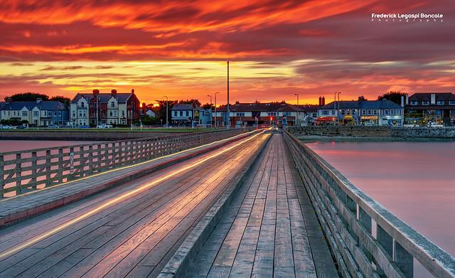 Clontarf Wooden Bridge I sunsetDublin, Ireland
