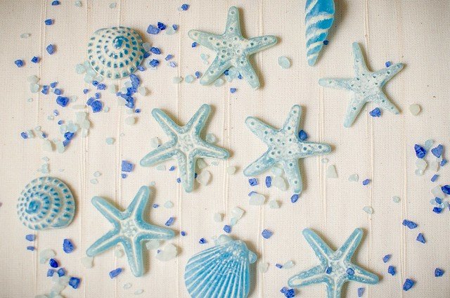 Estrellas. Still life en azul
