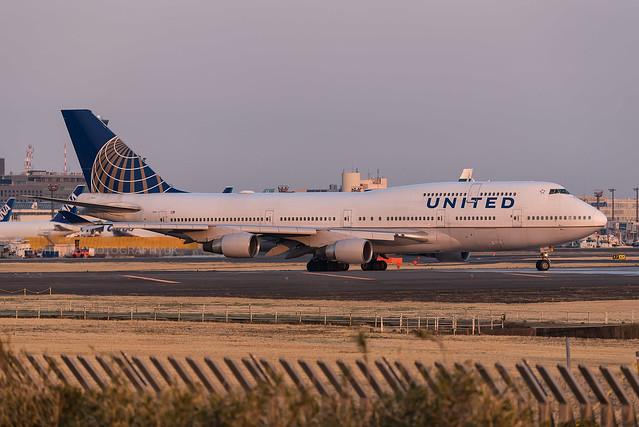 N104UA | Boeing 747-400 | United Airlines | Tokyo Narita | March 2017