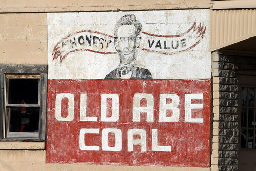 Old Abe Coal painted sign - Manchester, TN