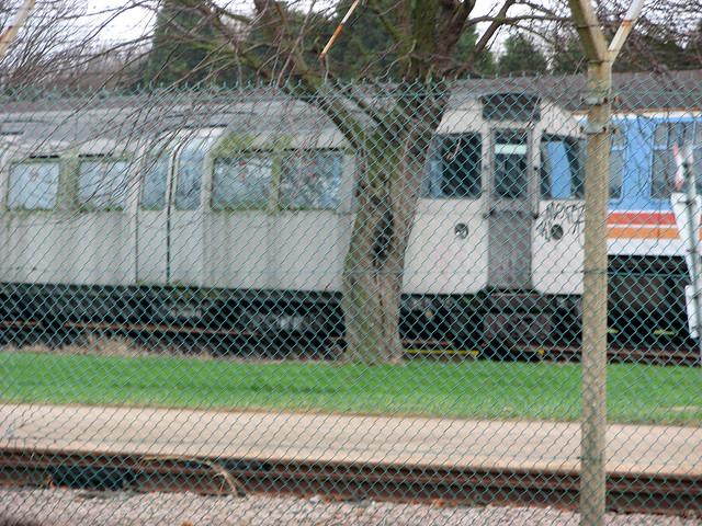 Old London Underground train