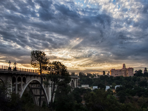 coloradostbridge pasadena california sunrise lightroom topaz photoshop