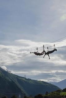 Ziplining in Baños