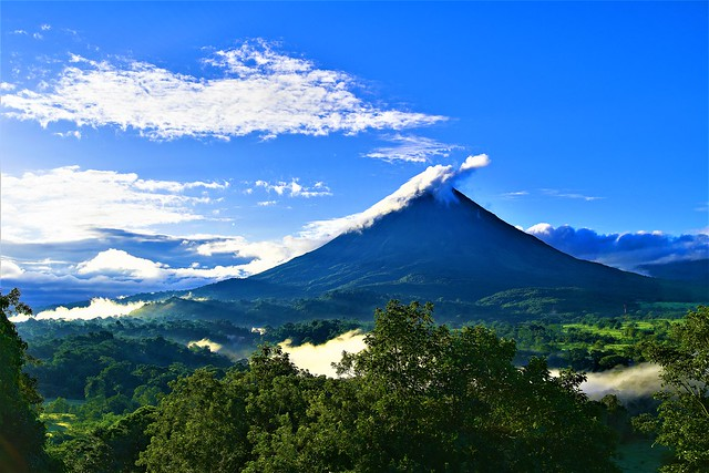Arenal volcano after sunrise