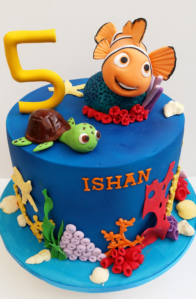 Brilliant Nemo Birthday Cake Koula Kakopieros Flickr Funny Birthday Cards Online Elaedamsfinfo