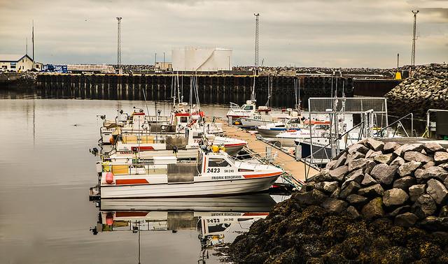Harbor at Ólafsvík, Iceland