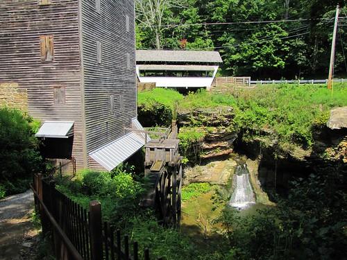 rockmill coveredbridge mills gristmills waterfall fairfieldcounty ohio