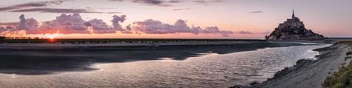 montsaintmichel holidays panorama lowtide france normandy sonya6500 sunset