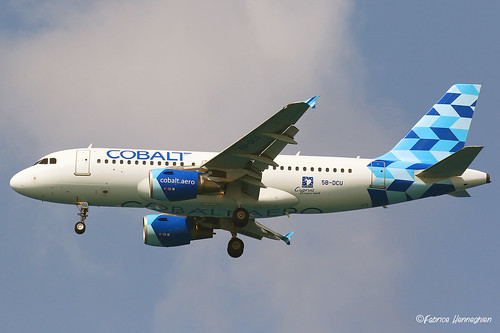 5B-DCU Cobalt Air Airbus A319-112   by Planes , ships and trains!