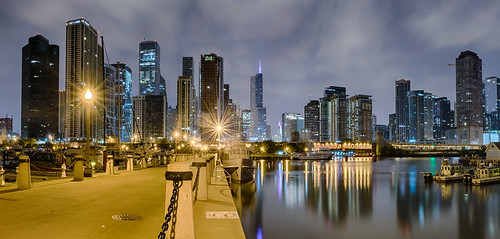 chicago hdr illinois lakemichigan nikon nikond5300 outdoor trumptower city cityscape clouds downtown geotagged lake lights longexposure night panorama panoramic pier reflection reflections sky skyscrapers water unitedstates