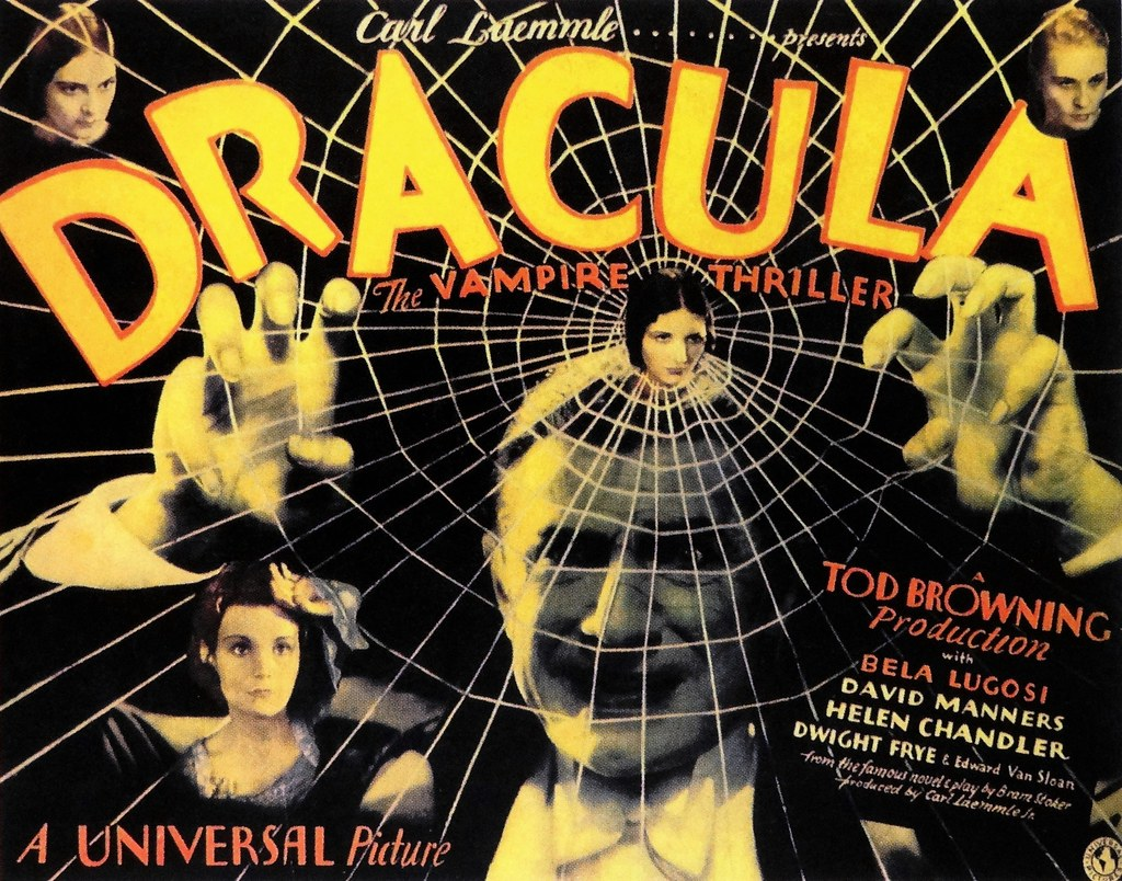 "Original Movie Poster for ""Dracula"" (Universal, 1931) 