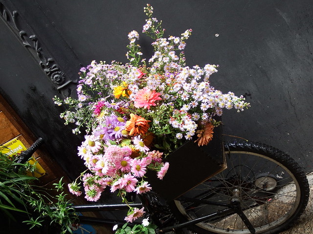 Outside the Spanish Florist's
