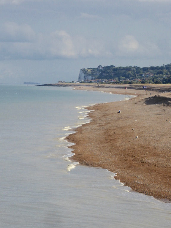 Looking back to Kingsdown from Deal pier Dover to Deal walk