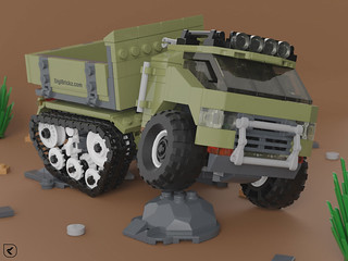 Military Half-Track Truck - Front | by Kamteey