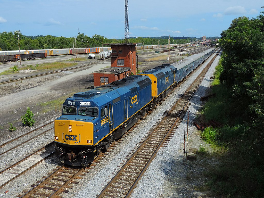 CSX 9999 and 9992 (2) | Train P901-30 office-car special is