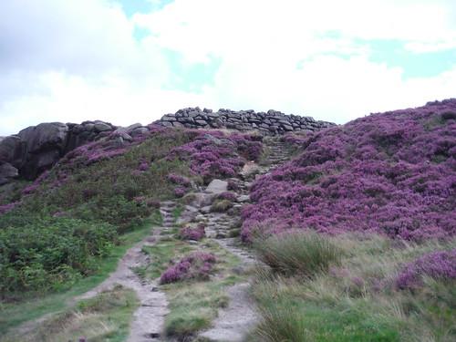 Carl Wark Entrance/Exit SWC Walk 266 - Sheffield to Bamford (via Burbage Rocks and Stanage Edge) or to Moscar Lodge [via Carl Wark and Higger Tor Alternative]